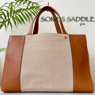 三越 - 極美品 SOMES SADDLE ソメスサドル 約4.3万 レザートートバッグ