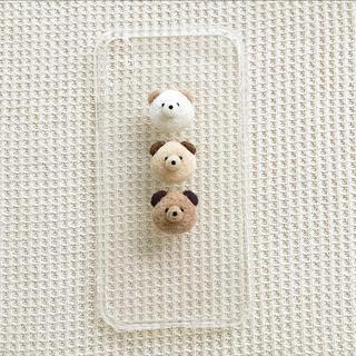 3匹のわんちゃんのスマホケース(iPhoneケース)