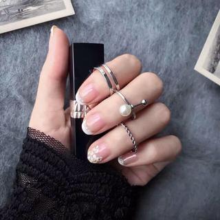 ザラ(ZARA)のリングセット 3点 パール 韓国ファッション 海外セレブ愛用(リング(指輪))