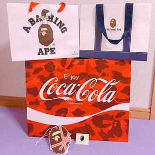 アベイシングエイプ(A BATHING APE)のA BATHING APE 紙袋 ショッパー3点& シール/カード(ショップ袋)