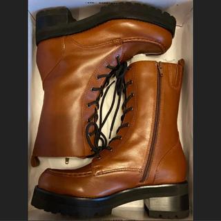 アシナガオジサン(あしながおじさん)の新品未使用品✨24cm あしながおじさん 本革 編み上げブーツ(ブーツ)
