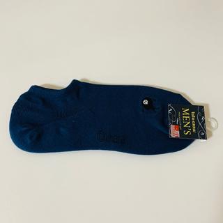 チュチュアンナ(tutuanna)のエヴァ×チュチュアンナ メンズ使徒刺繍ローカット綿混くるぶしソックス 紺×グレー(ソックス)