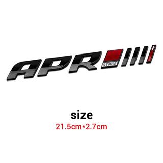 APRエンブレム ステージIII+Ⅰ アウディ ワーゲン ステッカー ブラック(車外アクセサリ)