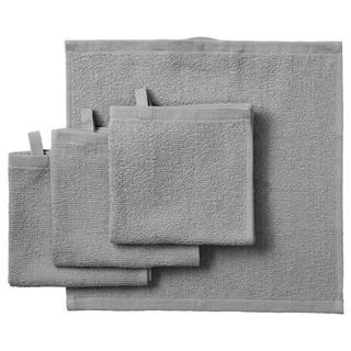 イケア(IKEA)のc&k25様用 タオルハンカチ 4枚 セット グレー とふきん水色(タオル/バス用品)