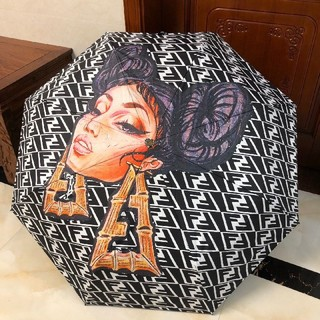 FENDI - Fendiフェンデイ傘 晴雨兼用の傘 自動折り畳み傘