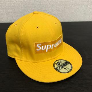 シュプリーム(Supreme)のSUPREME newera 黄色 7 1/2 59.6cm Box レアモデル(キャップ)