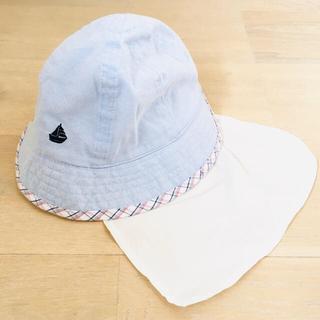 ハッシュアッシュ(HusHush)のHusHush 帽子 50㎝ ハット たれ付き(その他)