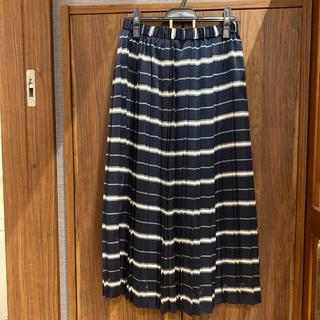 マリンフランセーズ(LA MARINE FRANCAISE)のマリンフランセーズ シースルーチェックプリーツスカート(ロングスカート)