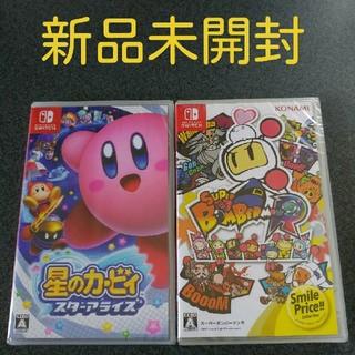 ニンテンドースイッチ(Nintendo Switch)の星のカービィ スターアライズ + スーパーボンバーマン R(家庭用ゲームソフト)