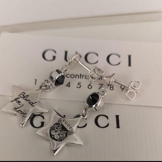 グッチ(Gucci)の【新品】ブラインドフォーラブキャット ピアス スターブラック(ピアス)