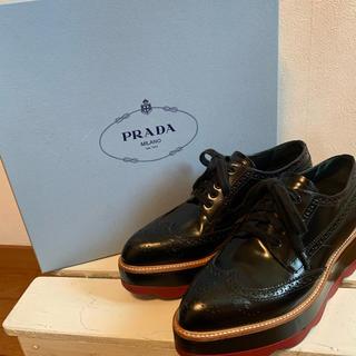 プラダ(PRADA)のPRADA フラットダービーシューズ(ローファー/革靴)