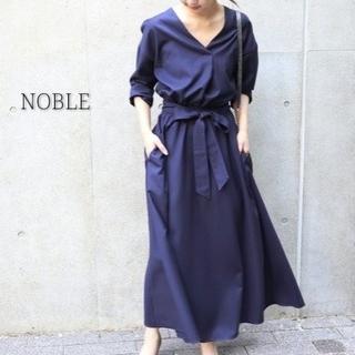 ノーブル(Noble)のNOBLE ノーブル ワンピース ネイビー  マキシ丈(ロングワンピース/マキシワンピース)