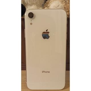 アイフォーン(iPhone)のiphoneXR 128GB softbankバッテリー100%ホワイト(スマートフォン本体)