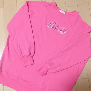 レディー(Rady)の☆レディー、ピンク、ロゴ入り、トレーナー☆(トレーナー/スウェット)