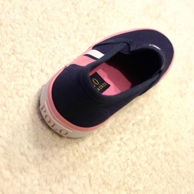 POLO RALPH LAUREN(ポロラルフローレン)の新品/未使用*POLO RALPH LAUREN キッズシューズ(19cm)  キッズ/ベビー/マタニティのキッズ靴/シューズ(15cm~)(スニーカー)の商品写真