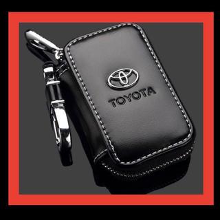トヨタ スマートキーケース TOYOTA レザーキーケース PUレザー 高品質(キーケース)