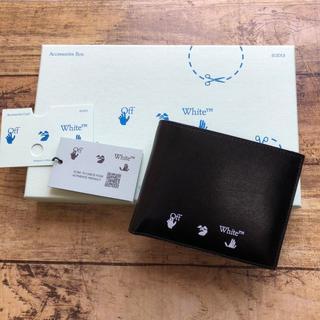 オフホワイト(OFF-WHITE)の新品 OFF WHITE オフホワイト 二つ折り財布 コイン付 ブラック(折り財布)