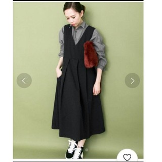 ケービーエフ(KBF)のhey様専用 【KBF】 ビッグプリーツ ジャンパースカート ブラック(オールインワン)