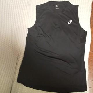 アシックス ノースリーブ シャツ Mサイズ Used品 ランニング トレーニング