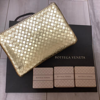 Bottega Veneta - ボッデガ・べネタ ソープ50g×3個+ゴールドトラベルポーチセット