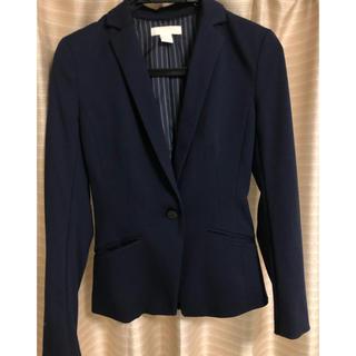エイチアンドエム(H&M)のネイビージャケット(テーラードジャケット)