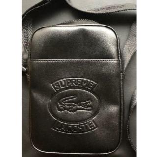 シュプリーム(Supreme)の送料込supreme  LACOSTE shoulder bag black黒(ショルダーバッグ)