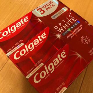 【3本】Colgate コルゲート optic white 歯磨き粉 90g(歯磨き粉)