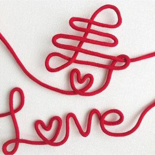運命の赤い糸♡寿、ラブ 2点セット ♡ウェディング 前撮りアイテム 針金アート