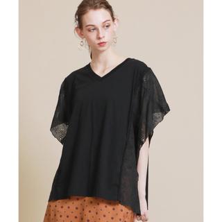 ミュベールワーク(MUVEIL WORK)の新品 ミュベール  ハンカチレース プルオーバー (Tシャツ(半袖/袖なし))