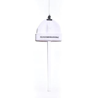 ピースマイナスワン(PEACEMINUSONE)のPMO KNIT CAP #2 White 最終値下げ(ニット帽/ビーニー)