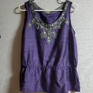 アメリカンラグシー(AMERICAN RAG CIE)のノースリーブ ブラウス エスニック紫(シャツ/ブラウス(半袖/袖なし))