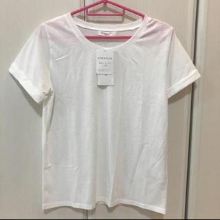 ザショップティーケー(THE SHOP TK)の白Tシャツ&サテンキャミ2点セット タグ付き(Tシャツ(半袖/袖なし))