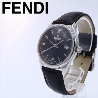 フェンディ(FENDI)の付属品【ほぼ未使用】FENDI 210G レザー ブラック 腕時計 メンズ(腕時計(アナログ))