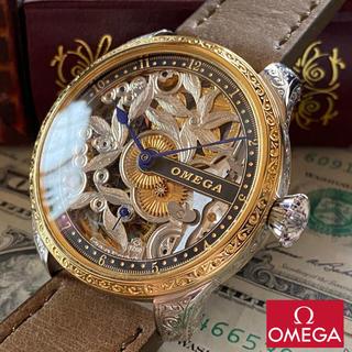 オメガ(OMEGA)の【新品仕上げ】omega ★ オメガ 24KGP アンティーク メンズ腕時計(腕時計(アナログ))