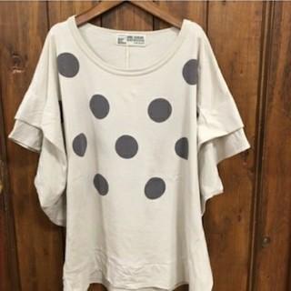 キューブシュガー(CUBE SUGAR)のキューブシュガー水玉Tシャツ(Tシャツ(半袖/袖なし))
