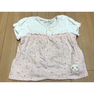 クーラクール(coeur a coeur)のクーラクール ピンク花柄トップス(Tシャツ/カットソー)