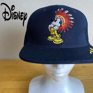 ディズニー(Disney)の[激レア] Disney ディズニー ストレートキャップ 希少デザイン  古着(キャップ)