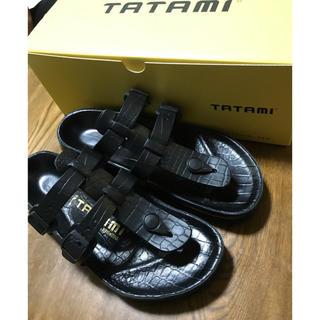 タタミ(TATAMI)のTATAMI Valerie サンダル タタミ バレリー クロコダイル 36(サンダル)