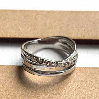 K18 ホワイトゴールド ダイヤモンド ピンキーリング(リング(指輪))