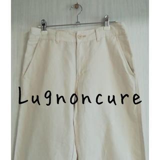 テチチ(Techichi)のLugnoncure ルノンキュール 白パンツ カジュアル リネン 麻(カジュアルパンツ)