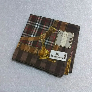 バーバリー(BURBERRY)の値下げ📌バーバリー☆シルク50%大判ハンカチーフ58×58(バンダナ/スカーフ)