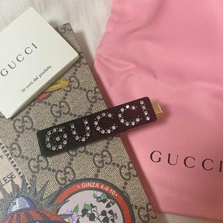 グッチ(Gucci)のGUCCI グッチ ヘアクリップ ブラック 新品未使用(バレッタ/ヘアクリップ)