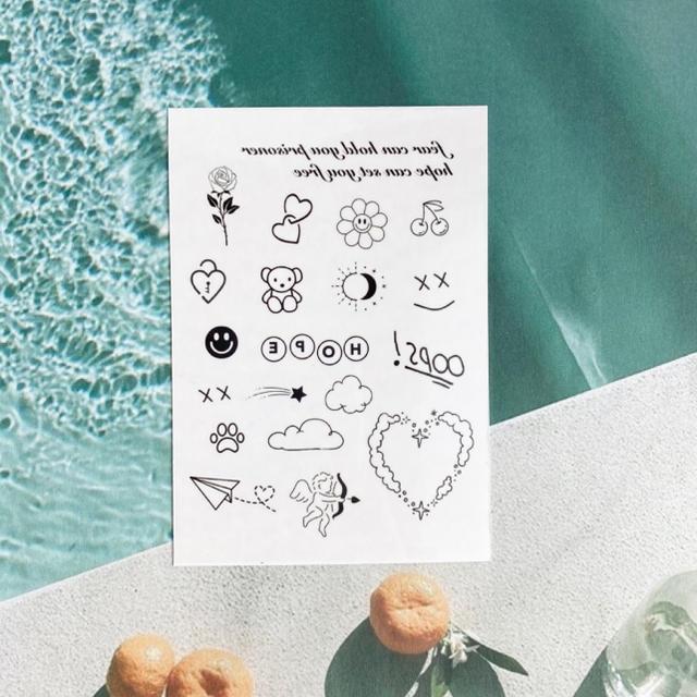 タトゥーシール 【ホープ】 韓国 消えるタトゥー レディースのアクセサリー(その他)の商品写真