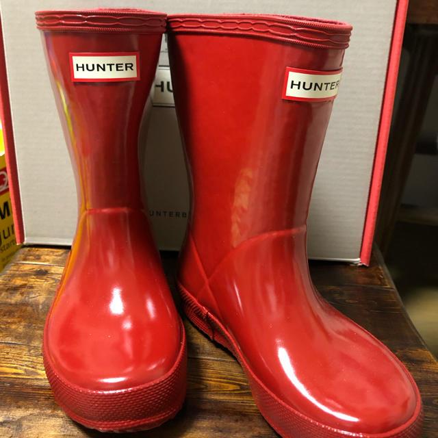 HUNTER(ハンター)の新品 ハンター キッズ レインブーツ UK8 キッズ/ベビー/マタニティのキッズ靴/シューズ(15cm~)(長靴/レインシューズ)の商品写真
