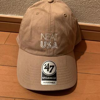 ワンエルディーケーセレクト(1LDK SELECT)の送料込!!NEAT USA & USA CAP ベージュ lechoppe.jp(キャップ)