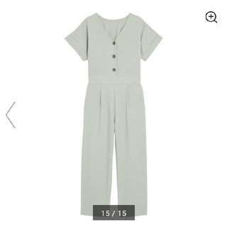 GU - ジーユー フロントボタンジャンプスーツ 大型店限定M