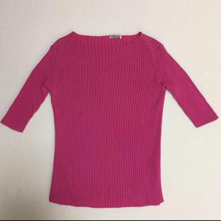 ロンハーマン(Ron Herman)のオーラリー AURALEE リブニット ピンク(Tシャツ(長袖/七分))