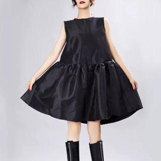トーガ(TOGA)のタフタ ドレス フレアー ワンピース シャタン インポート(ひざ丈ワンピース)