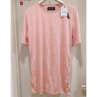 ザラ(ZARA)の【半額以下】新品タグ付き ZARA Tシャツ ピンク(Tシャツ/カットソー(半袖/袖なし))