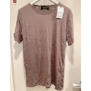 ザラ(ZARA)の【半額以下】新品タグ付き ZARA Tシャツ カーキ(Tシャツ/カットソー(半袖/袖なし))